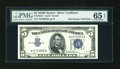 Small Size:Silver Certificates, Fr. 1654N* $5 1934D Narrow Silver Certificate. PMG Gem Uncirculated 65 EPQ.. ...