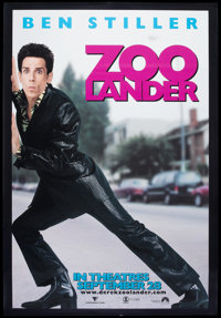 """Zoolander (Paramount, 2001). Bus Shelter (48"""" X 70"""") DS. Comedy"""