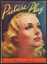 """Picture Play (January, 1937). Magazine (Multiple Pages, 8.5"""" X 11.5""""). Miscellaneous"""