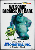 "Movie Posters:Animated, Monsters, Inc. (Buena Vista, 2001). Bus Shelter (48"" X 70"") DSAdvance. Animated.. ..."