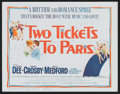 """Movie Posters:Comedy, Two Tickets to Paris (Columbia, 1962). Lobby Card Set of 8 (11"""" X 14""""). Comedy.. ..."""
