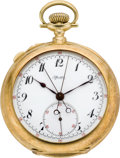Timepieces:Pocket (pre 1900) , Tiffany & Co. Fine Gold Split Second Chronograph, circa 1880's. ...