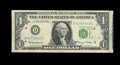 Error Notes:Attached Tabs, Fr. 1901-D $1 1963A Federal Reserve Note. Fine.. ...