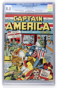 Captain America Comics #1 (Timely, 1941) CGC VF+ 8.5 Off-white to white pages