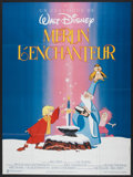 "Movie Posters:Animated, The Sword in the Stone (Warner Brothers, R-1990). French Grande(47"" X 63""). Animated.. ..."