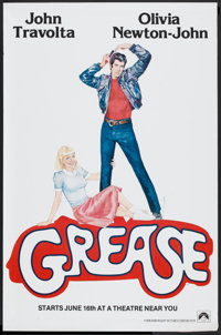 """Grease (Paramount, 1978). One Sheet (29.5"""" X 45"""") Advance. Musical"""
