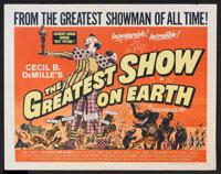 "The Greatest Show On Earth (Paramount, R-1960 and R-1967). Half Sheet (22"" X 28"") and Lobby Cards (2) (11""..."
