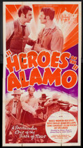 "Movie Posters:War, Heroes of the Alamo (Sunset Productions, R-1940s). Three Sheet (41""X 81""). War.. ..."