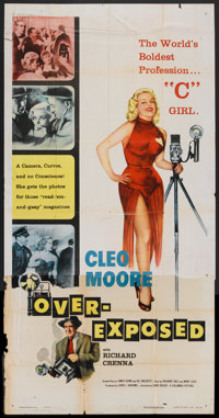 "Over-Exposed (Columbia, 1956). Three Sheet (41"" X 81""). Drama"