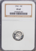 Proof Roosevelt Dimes: , 1952 10C PR67 NGC. NGC Census: (235/131). PCGS Population (370/29).Mintage: 81,980. Numismedia Wsl. Price for NGC/PCGS coi...