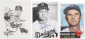 Autographs:Others, Brooklyn Dodgers Signed Items Lot of 5.... (Total: 5 items)