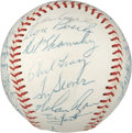Autographs:Baseballs, 1968 New York Mets Team Signed Baseball. ...
