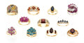 Estate Jewelry:Lots, Lot of Multi-Stone, Diamond, Gold Rings. ... (Total: 11 Items)