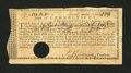 Colonial Notes:Connecticut, Connecticut Treasury-Office £121, 3 Shillings, 4 Pence February 1,1781 Very Fine....