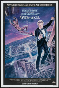 "A View to a Kill (United Artists, 1985). One Sheet (27"" X 41"") Advance. James Bond"