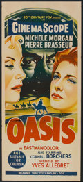 "Movie Posters:Adventure, Oasis (20th Century Fox, 1955). Australian Daybill (13"" X 30"").Adventure.. ..."