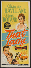 "Movie Posters:Adventure, That Lady (20th Century Fox, 1955). Australian Daybill (13"" X 30"").Adventure.. ..."