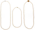 Estate Jewelry:Lots, Lot of Cultured Pearl, Gold Necklaces. ...
