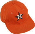Baseball Collectibles:Hats, 1970s Roger Metzger Game Worn Cap. The 1973 Gold Glove shortstopRoger Metzger wore this bright orange cap during his time ...