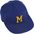 Baseball Collectibles:Hats, 1974 Ken Berry Game Worn Cap Here we offer an exceptional game wornhome cap from Ken Berry's only year with the Milwaukee...