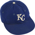 Baseball Collectibles:Hats, 1970s John Mayberry Game Worn Cap. The two-time All-Star ('73, '74) first baseman John Mayberry spent his best years as a R...