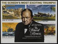 """The Finest Hours (Columbia, 1964). British Quad (30"""" X 40""""). Documentary. Narrated by Orson Welles, with voice..."""