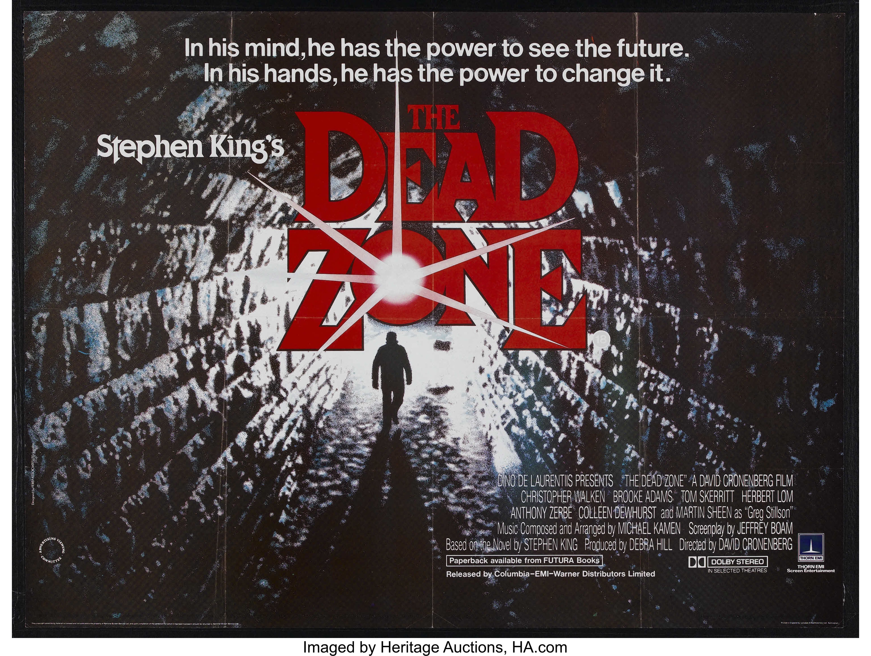 The Dead Zone (Paramount, 1983)  British Quad (30