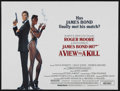 "Movie Posters:James Bond, A View to a Kill (MGM, 1985). British Quad (30"" X 40""). James Bond.Starring Roger Moore, Christopher Walken, Tanya Roberts,..."