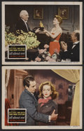 """Movie Posters:Drama, All About Eve (20th Century Fox, 1950). Lobby Cards (2) (11"""" X 14""""). Drama. Starring Bette Davis, Anne Baxter, George Sander... (Total: 2)"""