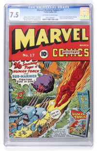 Marvel Mystery Comics #17 (Timely, 1941) CGC VF- 7.5 Off-white to white pages