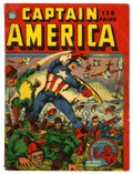 Golden Age (1938-1955):Superhero, Captain America Comics 132-Page Issue (Timely, 1942) Condition: FN-....