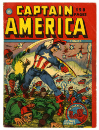 Captain America Comics 132-Page Issue (Timely, 1942) Condition: FN-