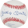 Autographs:Baseballs, Willie Mays, Mickey Mantle and Duke Snider Signed Baseball. ...