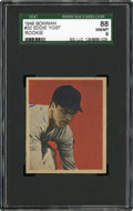 Baseball Cards:Singles (1940-1949), 1949 Bowman Eddie Yost #32 SGC 88 NM/MT 8....