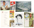 Autographs:Others, New York Yankees Signed Collection Of Vintage Memorabilia....