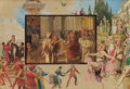 Fine Art - Painting, European:Modern  (1900 1949)  , CONTINENTAL SCHOOL. A Composition of Various Scenes. Mixed media on illustration board mounted on foamboard. 14 x 20 inc...