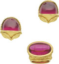 Estate Jewelry:Suites, Rubellite Tourmaline, Gold Jewelry Suite, Denise Roberge. ...