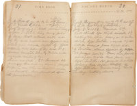 Historically Important Civil War Journal Kept by Surgeon David Sterret Hays, 110th Penna. Vols., While Serving at Letter...