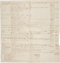 Autographs:Statesmen, [Samuel Huntington et al.] Connecticut Civil Expenses, 1787-1788, Including the Salaries of...
