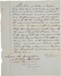 """Autographs:Authors, Nathaniel Hawthorne Document Signed """"Nath. Hawthorne/ US Consul/ Liverpool"""". One page, 7.5"""" x 9.5"""", October 5, 1856,..."""