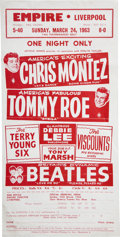 Music Memorabilia:Posters, Beatles Empire Theatre, Liverpool Handbill (1963)....