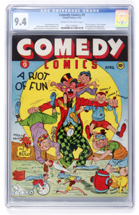 Comedy Comics #9 (Timely, 1942) CGC NM 9.4 Cream to off-white pages