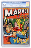 Golden Age (1938-1955):Superhero, Marvel Mystery Comics #3 (Timely, 1940) CGC VF+ 8.5 Off-white pages....