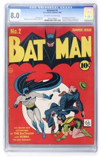 Batman #2 (DC, 1940) CGC VF 8.0 Off-white to white pages