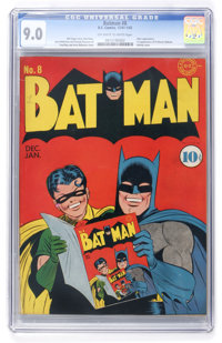 Batman #8 (DC, 1942) CGC VF/NM 9.0 Off-white to white pages