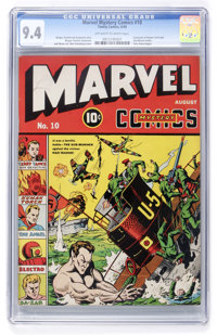 Marvel Mystery Comics #10 (Timely, 1940) CGC NM 9.4 Off-white to white pages