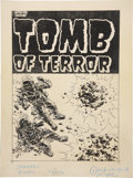 Original Comic Art:Covers, Lee Elias Tomb of Terror #13 Pre-Code Cover Original Art(Harvey, 1954)....