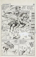Original Comic Art:Panel Pages, Jack Kirby and Chic Stone Avengers #6 Thor vs. the BlackKnight page 14 Original Art (Marvel, 1964)....