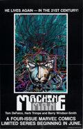 Memorabilia:Poster, Barry Smith and Herb Trimpe Machine Man Dealer's Poster(Marvel, 1984)....