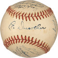 Autographs:Baseballs, 1948 Brooklyn Dodgers Team Signed Baseball. ...